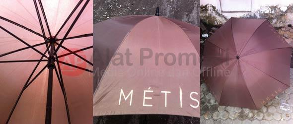 Payung Golf warna coklat pesanan Metis