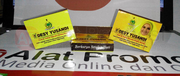 Korek api ukuran standar untuk promosi pesanan salah satu caleg partai Golkar TANGERANG