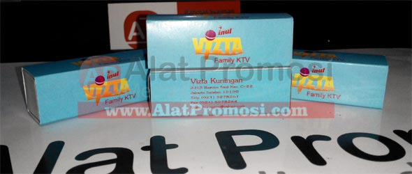 Korek api kayu promosi ukuran segi empat pesanan Inul Vizta Family KTV Kuningan - Jakarta