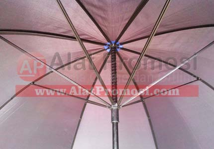 Payung Golf ready stok warna hitam double rangka ruji